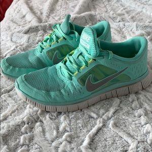 Mint Green Nike Free Runs